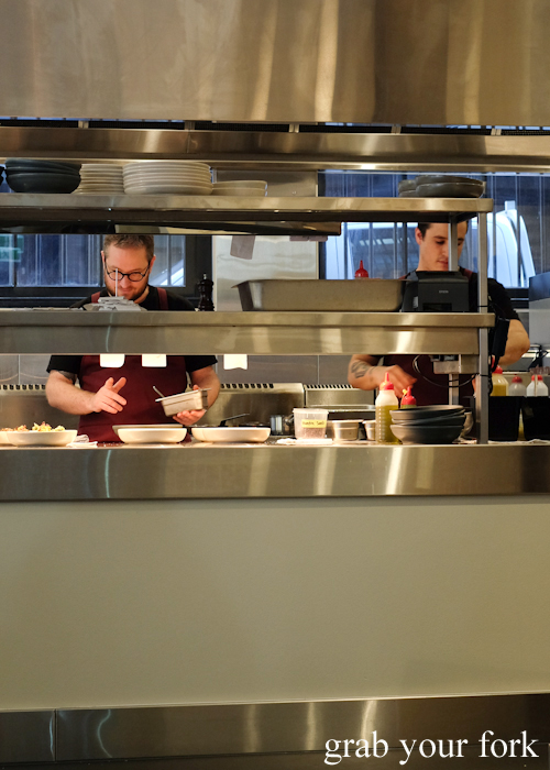 Head chef Clayton Wells in the kitchen at A1 Canteen in Chippendale Sydney