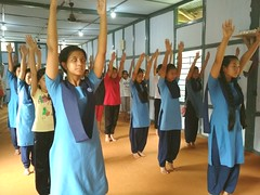 International Yoga Day celebration at VKV Tezu