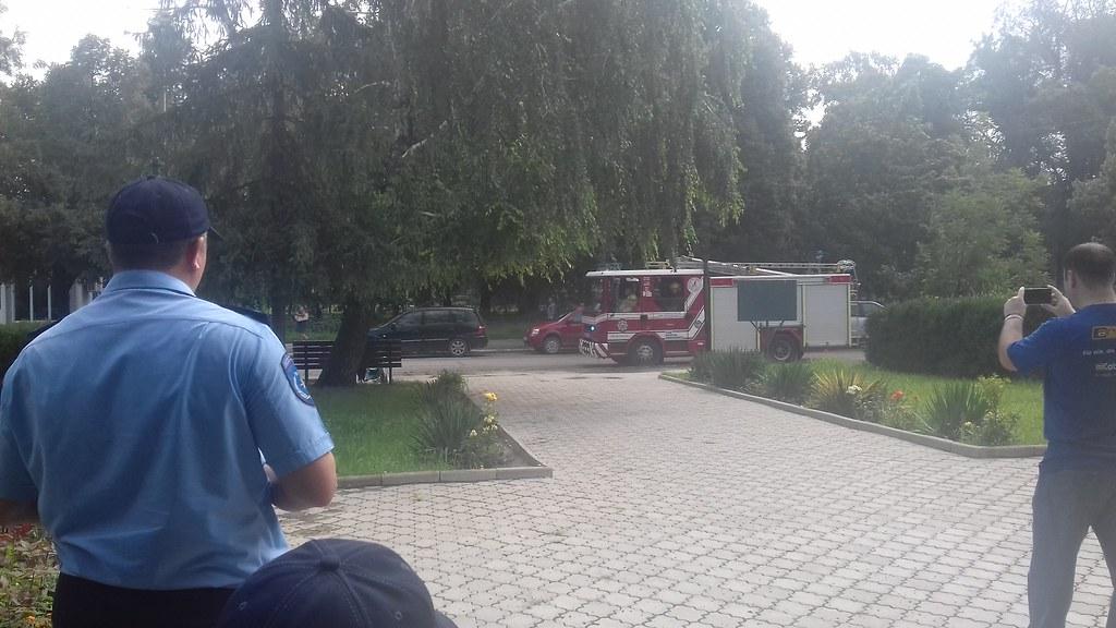 Aplicație desfășurată de pompieri la Biblioteca Publică Leova
