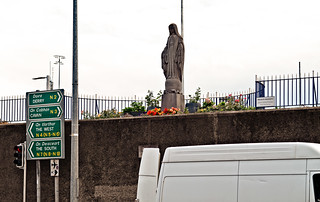 A MARIAN STATUE DATING FROM 1953 [BROADSTONE - AT THE LUAS TRAM STOP]-142776