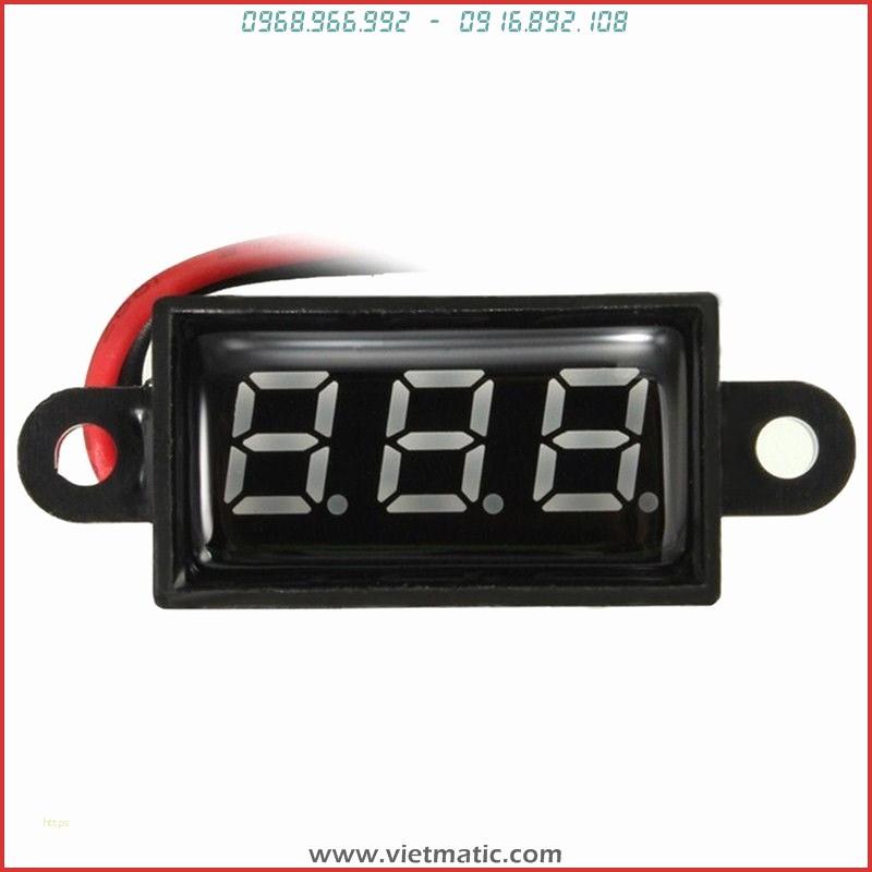 Đồng hồ đo diện bình ắc quy chống nước