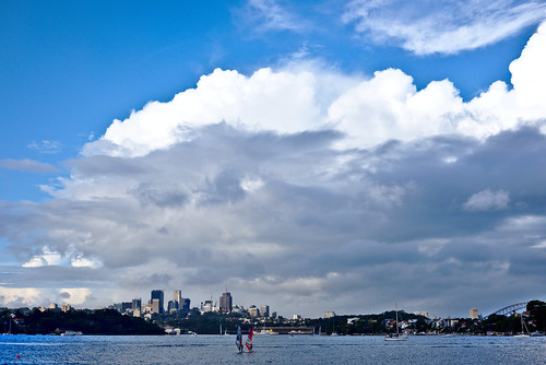 Clouds over Sydney Harbour, from Cockatoo Island