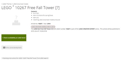 LEGO Creator Free Fall Tower (10267)
