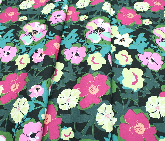 Art Gallery Fabrics Rainforest Fusion Blomma Garden Rainforest