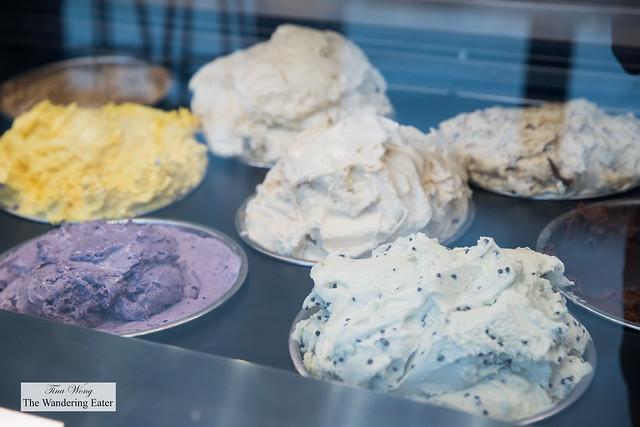 Various flavors of booza ice cream