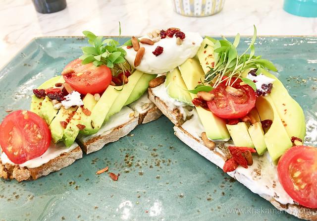 Australian Avocado & Cream Cheese Rye Bread Tartine