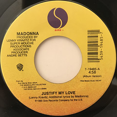 MADONNA:JUSTIFY MY LOVE(LABEL SIDE-A)