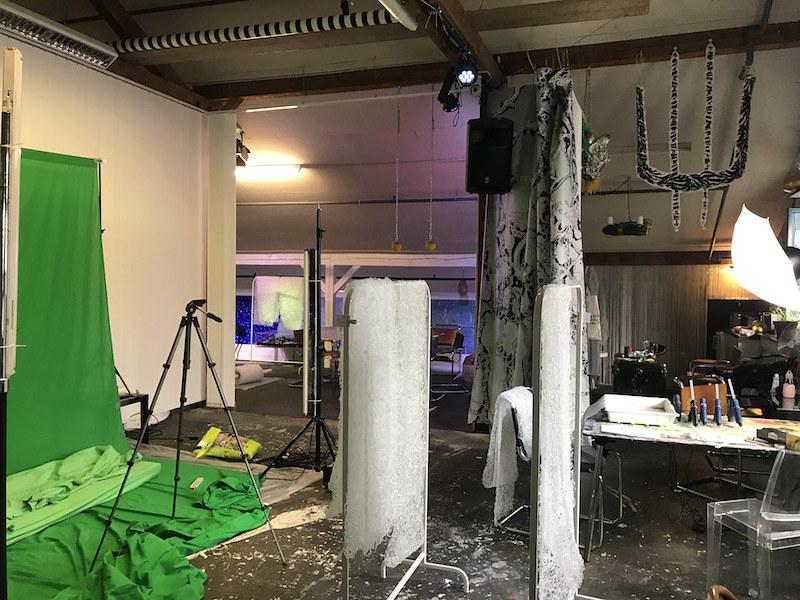 U5 studio, working