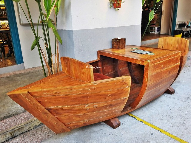 Seating Hand-Carved Boat
