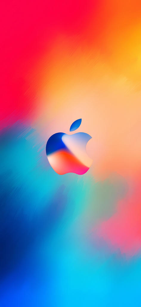 Iphone X Hd Wallpaper Abstract Apple Logo Color Red Blue Flickr