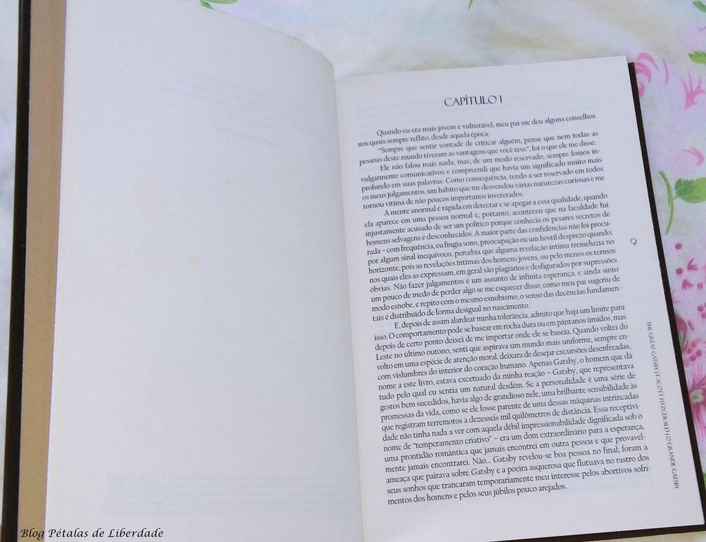 Diagramação, Resenha, livro, O-Grande-Gatsby, F-Scott-Fitzgerald, Landmark, edicao-bilingue, classico