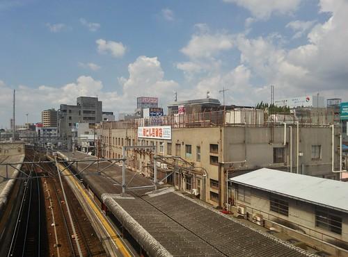 駅から見える岡ビル百貨店