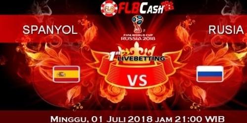Prediksi Bola Piala Dunia – Spanyol vs Rusia, hari Sabtu, 1 Juli 2018