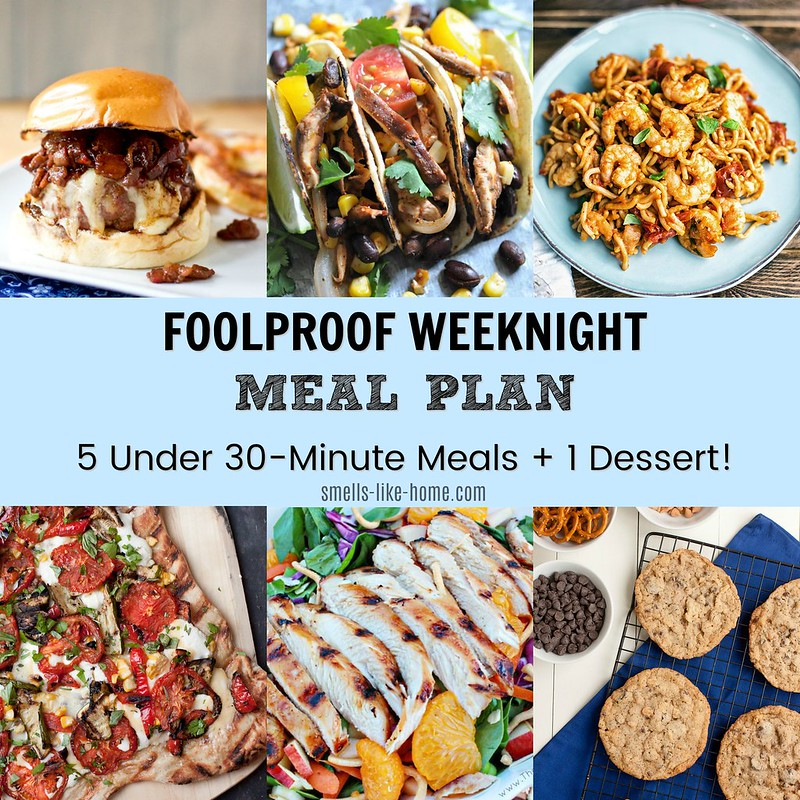 Foolproof Weeknight Meal Plan Week 1