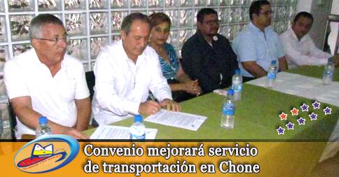 Convenio mejorará servicio de transportación en Chone