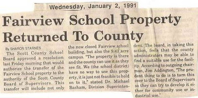 Fairview School -- Scott County, VA
