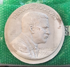 plaster of Theodore Roosevelt Founders Medal