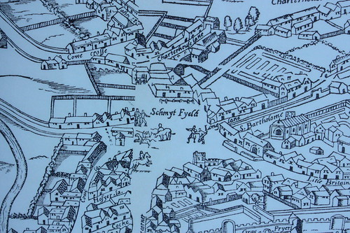 Smithfield_as_shown_on_the_wood cut_map_of_1561