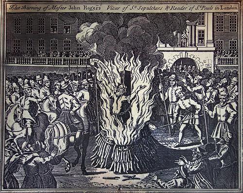 Burning of John rogers at Smithfield
