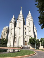 Salt Lake Temple angle