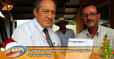 Celebraron asamblea en seguro campesino en Rancho Viejo