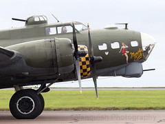 124485 Memphis Belle Boeing B-17G Flying Fortress Scampton Airshow 201