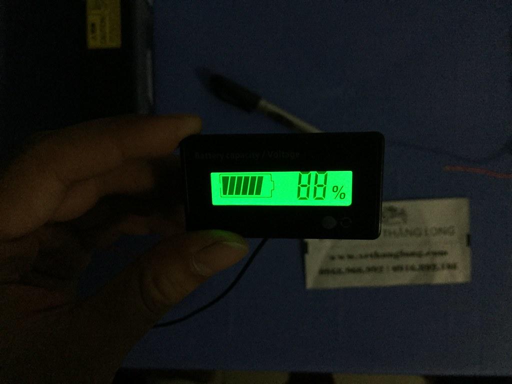 Đo bình theo mức điện năng còn lại (%)