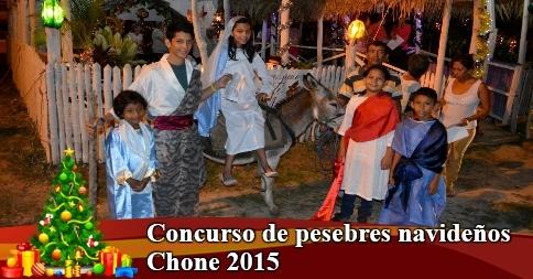 Concurso de pesebres navideños Chone 2015
