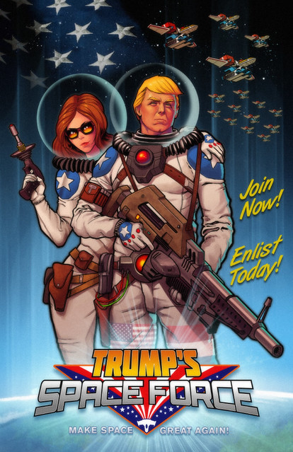 Trump's Space Force - Poster