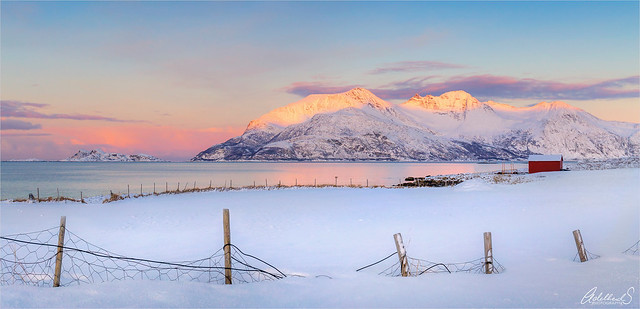 Sunset on Kvaløya, Troms, Norway