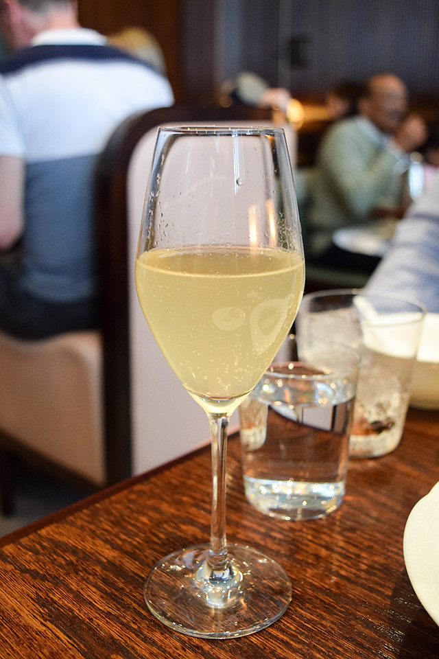 Asian Pear, Sparkling Wine and Butter Cocktail at XU, Chinatown