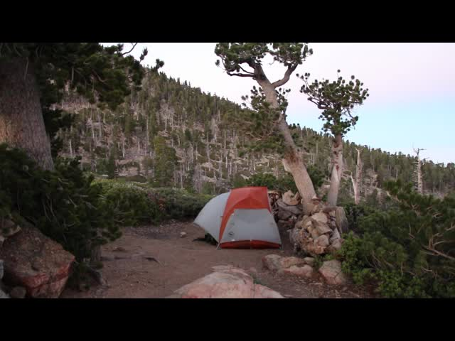 248 Video of the gusty wind at dawn from the Limber Pine Bench campground