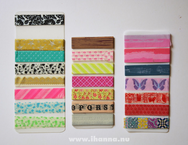 Favorite Washi tape samplers