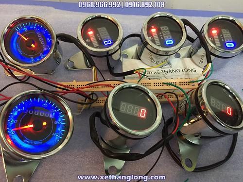 Đồng hồ báo tua máy, đo xăng và công tơ mét các loại