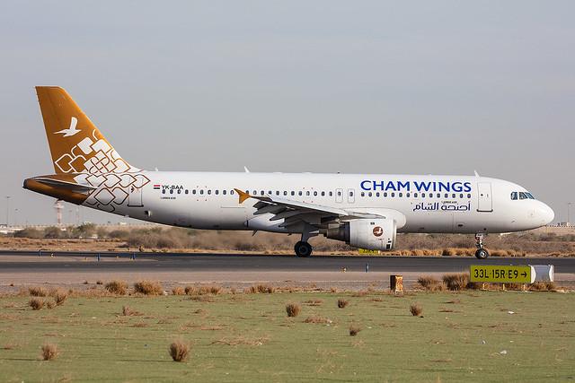 YK-BAA, Airbus A320-212 Cham Air @ Kuwait KWI