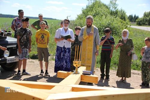 Установка Креста в Дуброве