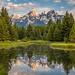 Morning Teton Reflection on the Snake River by grimeshome