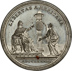 1783 Peace of Versailles Medal reverse