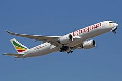 Ethiopian Airlines Airbus A350-941 ET-AVC The Pyramids LHR 30-06-18