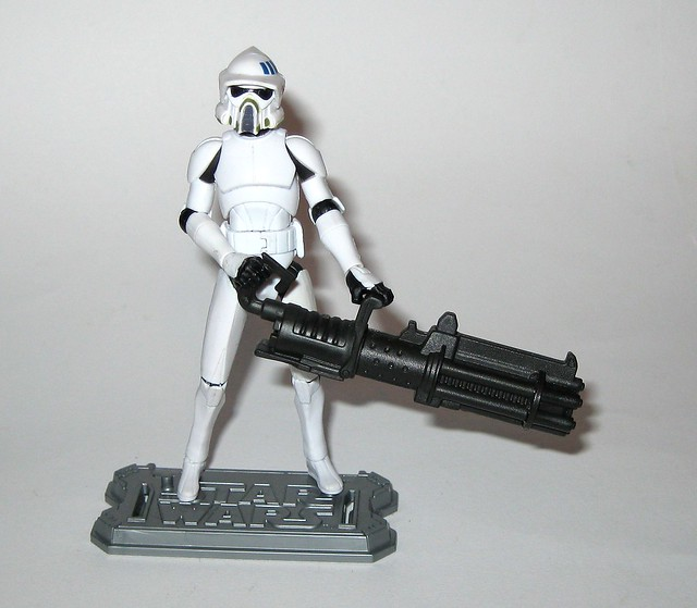 arf trooper star wars the clone wars cw18 blue black packaging basic action figures 2010 hasbro 2p