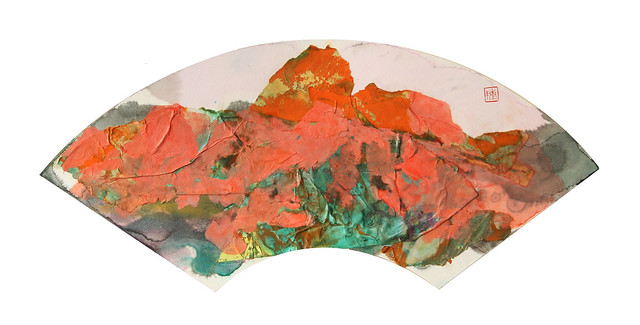 """Impression of Yugur Landform 8 裕固地貌印象8號"" by Chen Wennan, Art of Nature, Hong Kong, Room 4225"