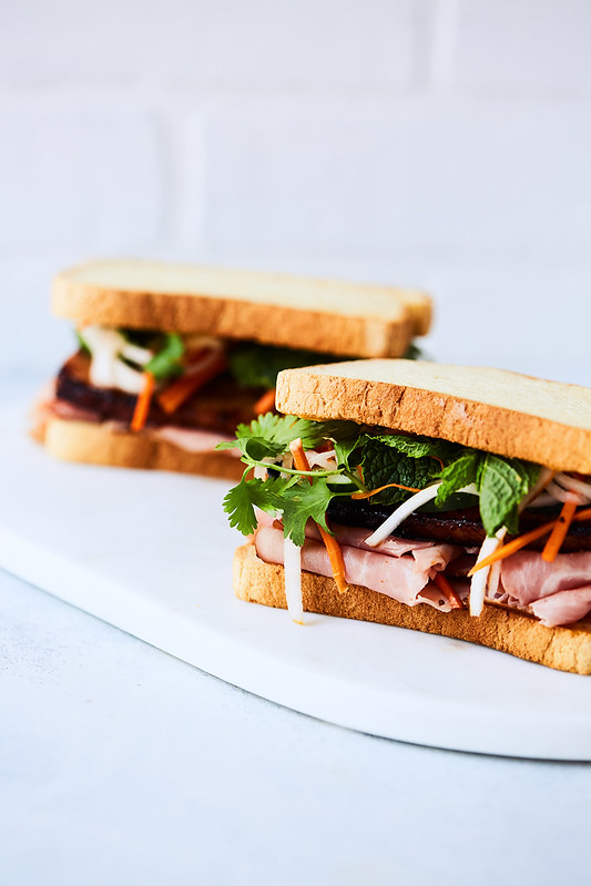 Take Banh Mi: Gluten-free Roasted Pork Belly Banh Mi Sandwich