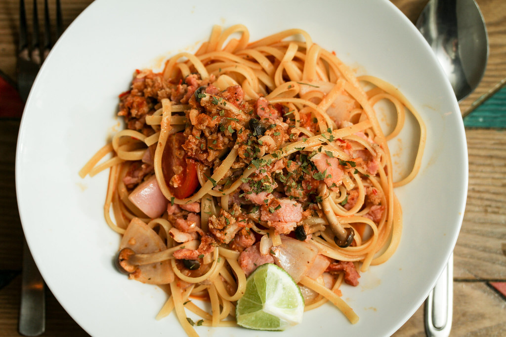 Hae Bi Hiam Bacon Linguini - Top Down