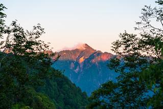 鳥甲山のモルゲン
