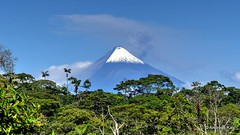 Sangay volcano (5230 m) with ash cloud
