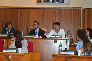 Il presidente del Consiglio comunale, il segretario Nunziante e Nico Vitto
