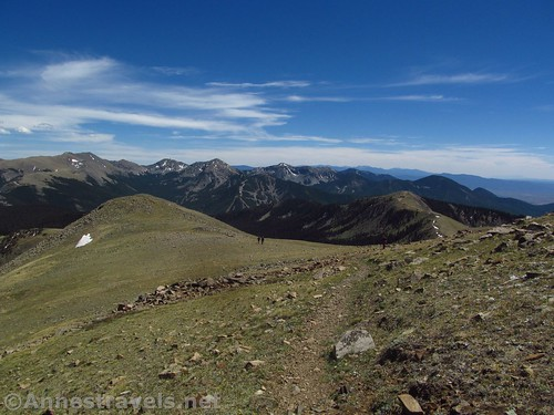 Views from Gold Hill toward Mt. Wheeler and other peaks, Carson National Forest, New Mexico