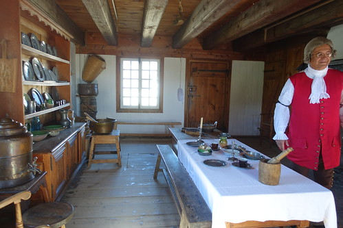 Inside a kitchen at Louisbourg Fortress. From History Comes Alive in Sydney, Nova Scotia