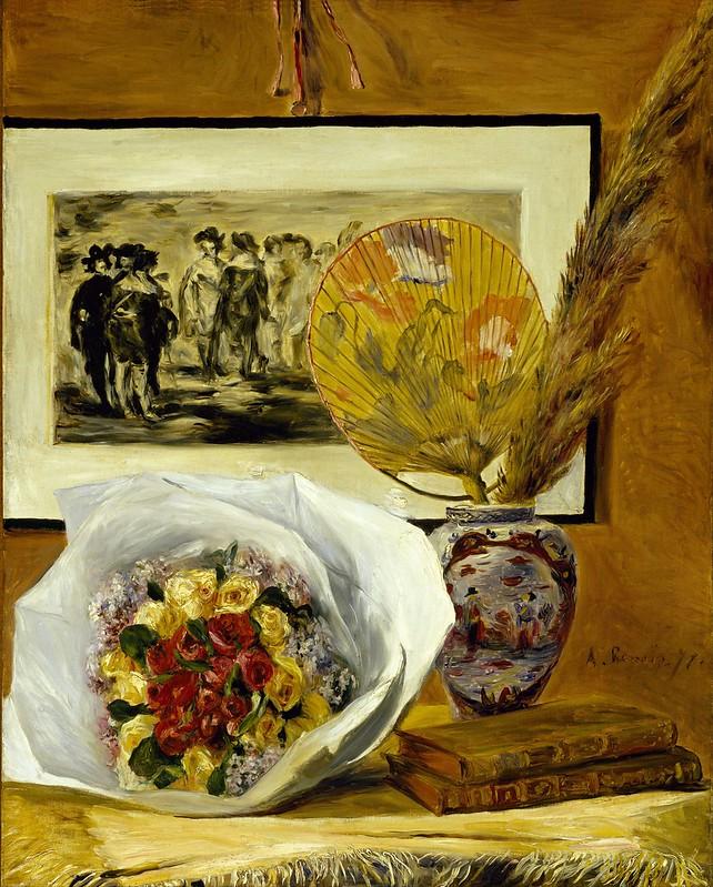 Pierre-Auguste Renoir - Still Life with Bouquet (1871)