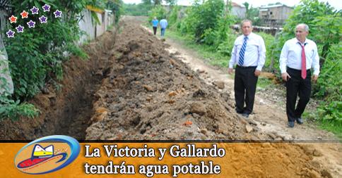 La Victoria y Gallardo tendrán agua potable